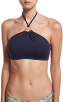 MICHAEL Michael Kors Logo-Ring High-Neck Swim Top