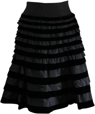 Ermanno Scervino Black Velvet Skirt for Women