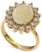 Effy Opal (1-7/8 ct. t.w.) and Diamond (1 ct. t.w.) Ring in 14k Gold