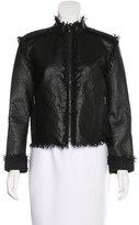 Lanvin Leather Fringe-Trim Jacket