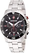 Wenger Sea Force Chrono Men's Quartz Watch with Dial Analogue Display and Silicone Strap 010643101