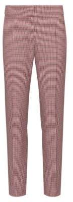 HUGO BOSS - Slim Fit Pants With Micro Houndstooth Pattern - Patterned