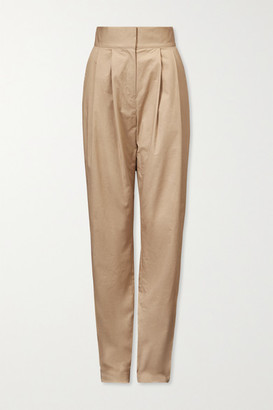 TOVE Lourdes Stretch-cotton Twill Tapered Pants - Beige