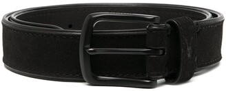 AllSaints Carson logo embroidered belt