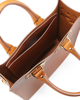 Sophie Hulme Mini Buckled Leather Tote Bag, Tan