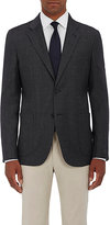 Barneys New York MEN'S WOOL-SILK MICRO-CHECKED TWO-BUTTON SPORTCOAT
