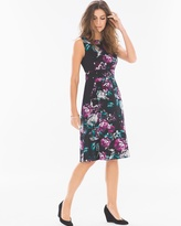 Soma Intimates Sleeveless A-line Short Dress Midnight Floral Blackberry