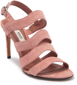 Bally Strappy Suede Stiletto Sandal