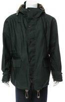 Burberry Raffia-Trimmed Hooded Jacket