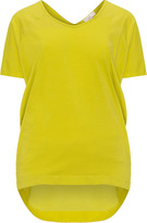 Amber and Vanilla Plus Size V-neck cotton jersey t-shirt