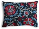 Loom Decor Boudoir Pillow Suzani Q - Peacoat