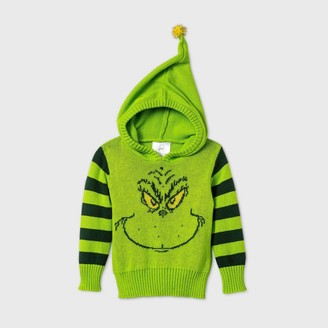 Dr. Seuss Baby Grinch Hooded Pullover Ugly Christmas Sweater -