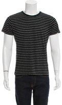 Saint Laurent Striped Crew Neck T-Shirt