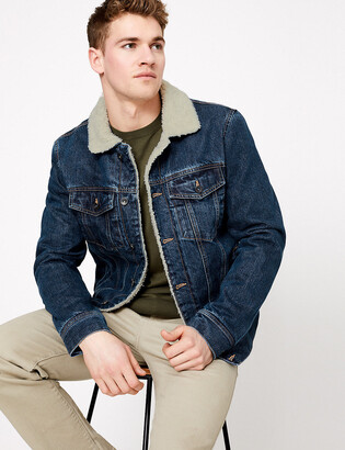 Marks and Spencer Denim Borg Jacket