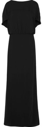 Halston Gathered Crepe Gown
