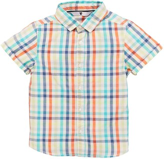Very Boys Short Sleeved Colourful Checked Shirt - Multi