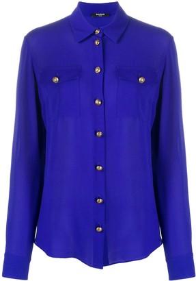 Balmain Georgette silk shirt