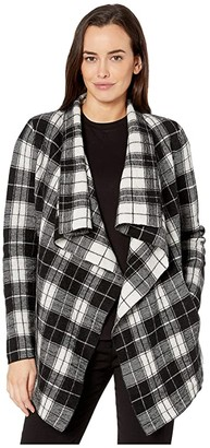 Lauren Ralph Lauren Open-Front Wool Sweater (Polo Black/Mascarpone Cream) Women's Clothing