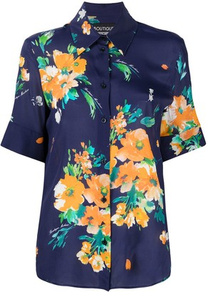 Boutique Moschino Floral Print Short-Sleeved Shirt