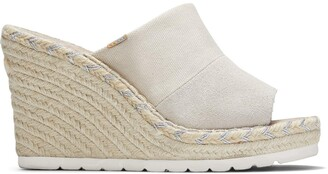 Toms Natural Suede Monica Wedge Mule