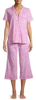 Secret Treasures Women's and Women's Plus Traditional Notch Collar Short Sleeve Tee and Capri Sleep Set