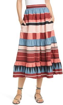 Ulla Johnson Simi Stripe Skirt