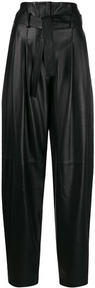 Wandering loose-fit high-waisted trousers