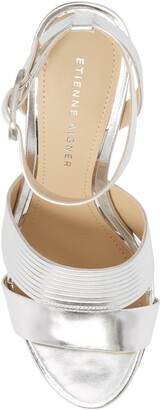 Etienne Aigner Layla Metallic Leather Ankle Strap Sandal