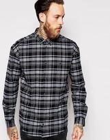 Dr Denim Shirt Tower Oversized Buttondown Check - Black