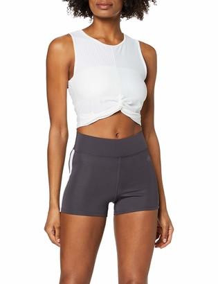 Aurique Amazon Brand Women's Side Stripe Sports Shorts