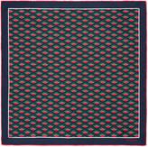 Gucci Rhombus print silk pocket square