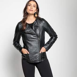 Anne Weyburn Soft Leather Biker Jacket
