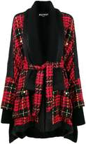 Balmain tweed check cape coat