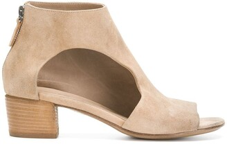 Marsèll Peep Toe Cut-Out Ankle Boots