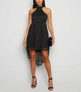 New Look Carpe Diem Lace Dip Hem Dress