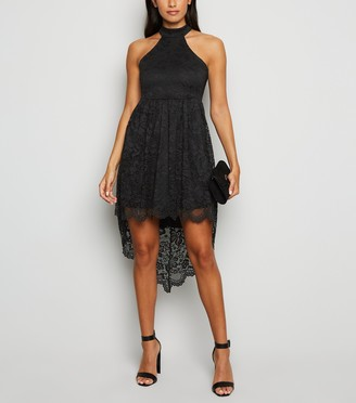 New Look Carpe Diem Lace Dip Hem Dress