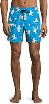 Vilebrequin Moorea Bears on Ice Swim Trunks, Turmeric