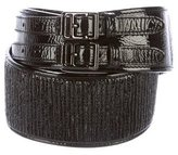 Burberry Dual Buckle Waist Belt
