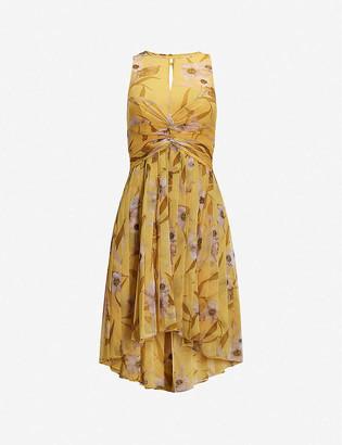 Ted Baker Cabana Fabulas pleated crepe midi dress
