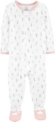 Carter's Toddler Girl Ballerina Footed Pajamas