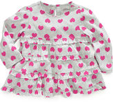 First Impressions Baby Top, Baby Girls Long-Sleeved Ruffled Heart-Print