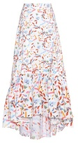 Peter Pilotto Printed Stretch-cotton Skirt