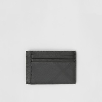 Burberry Check and Leather Money Clip Card Case