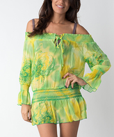Yellow & Green Floral Cover-Up