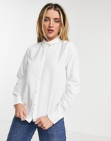 Pieces oxford shirt in white