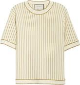 Gucci Metallic Stripe Wool Blend Sweater