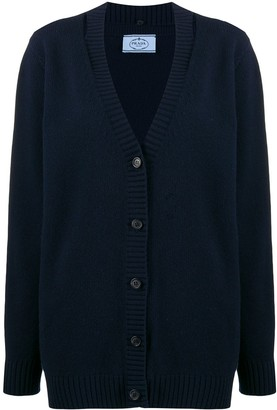 Prada slit-detail knitted cardigan