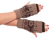 LUNIWEI Women Christmas Knitting Winter Stretchy Gloves Mittens