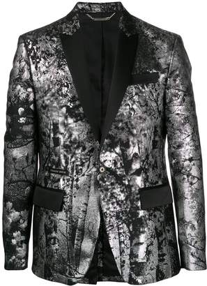 Philipp Plein metallic effect fitted blazer