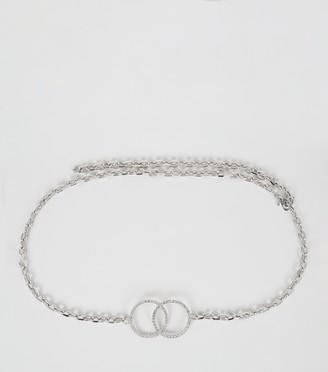 New Look Diamante Double Circle Chain Belt